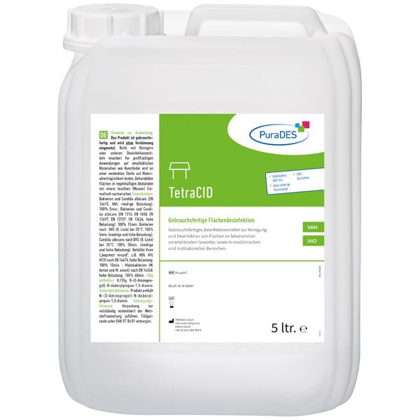 PuraDES TetraCID Flächendesinfektion - 5 Liter