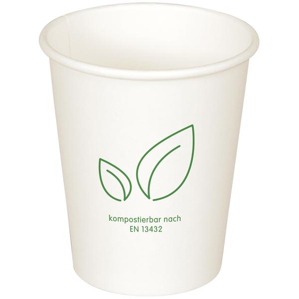 Coffee-Cup Bio 1-wandig weiß - mit Motiv
