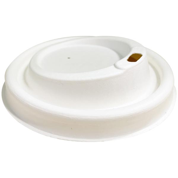 Deckel + Trinkloch weiß - Durchmesser 80 mm