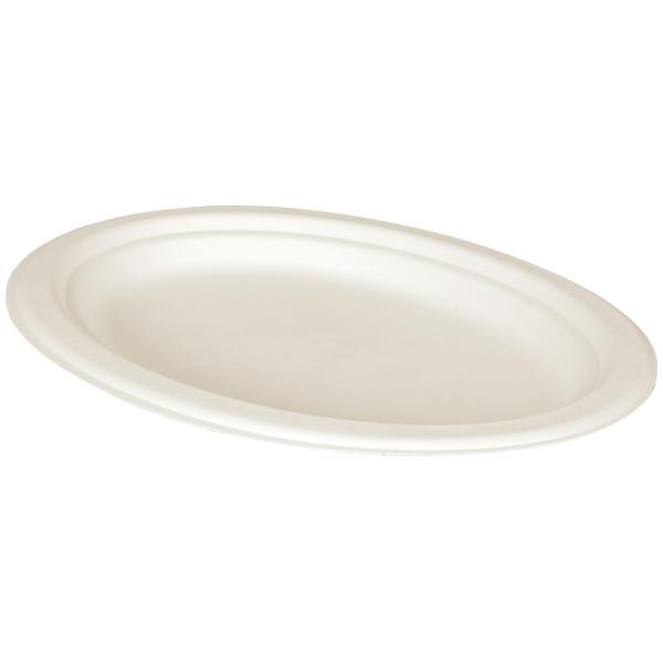 Teller oval unget. 26x19x1,9cm