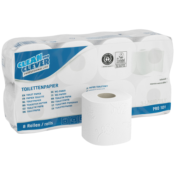 CLEAN and CLEVER PROFESSIONAL Toilettenpapier PRO 101