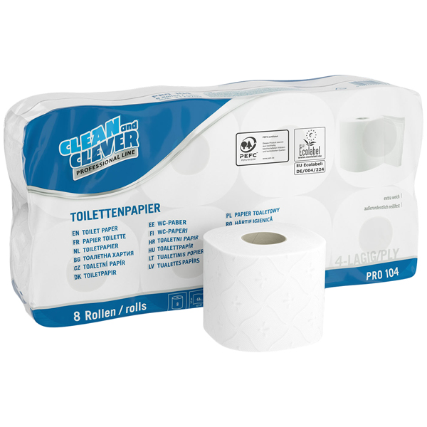 CLEAN and CLEVER PROFESSIONAL Toilettenpapier PRO 104