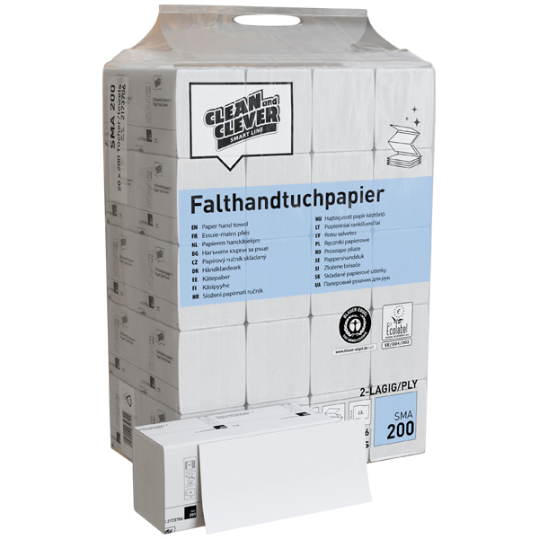 CLEAN and CLEVER SMART Falthandtuchpapier SMA 200