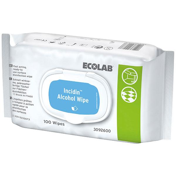 ECOLAB Incidin™ Alcohol Wipes Desinfektionstücher 100 Stück