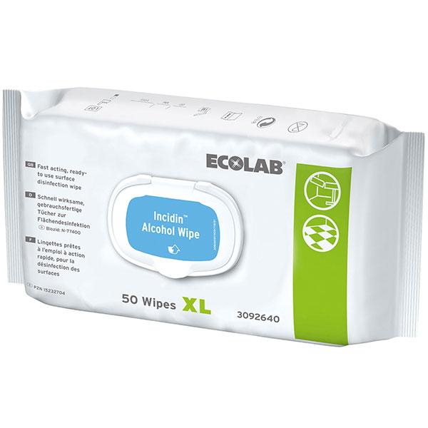 ECOLAB Incidin™ Alcohol Wipes XL Desinfektionstücher 50 Stück