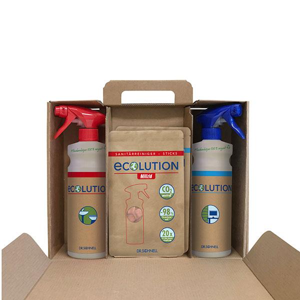 Dr.Schnell ECOlution Sanitär-& Universalreiniger Set 20 x 3 g online kaufen - Verwendung 1
