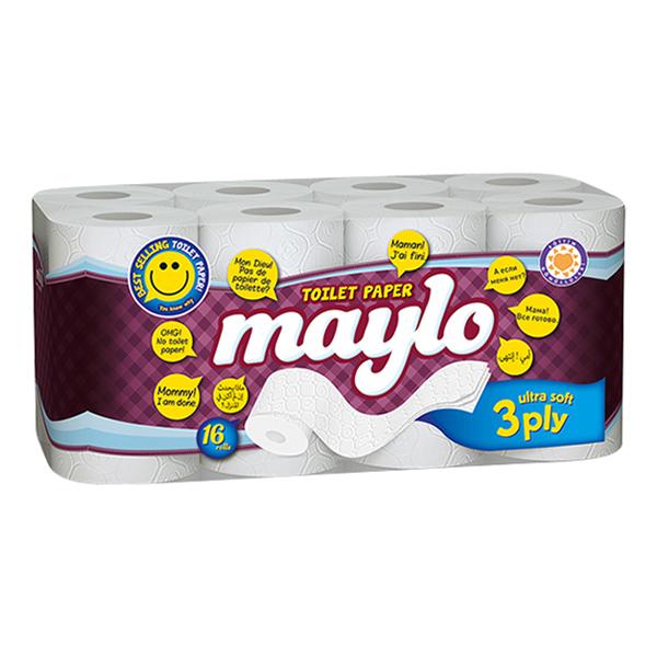 Maylo Toilettenpapier weiß ( 40 Rollen )