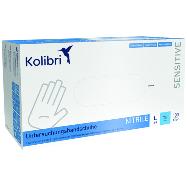 Kolibri Sensitive Nitril latexfreie Untersuchungshandschuhe Gr. L online kaufen - Verwendung 1