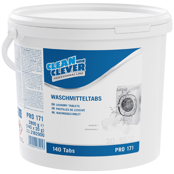CLEAN and CLEVER PROFESSIONAL Waschmitteltabs PRO 171