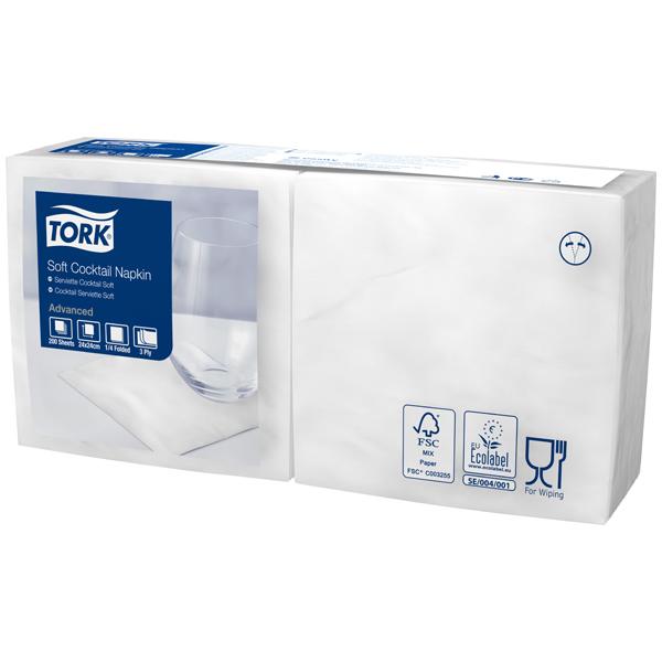 Soft Serviette 24 x 24 cm - weiß