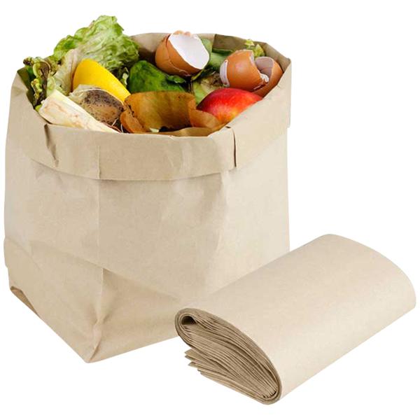 Ulith Papier-Biomüllbeutel 10 Liter natronbraun online kaufen - Verwendung 1