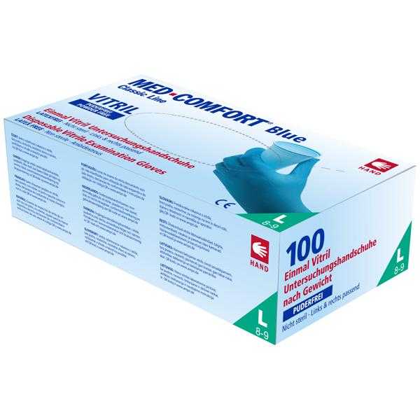 AMPri Med-Comfort Vitril U-Handschuh blau Gr. S