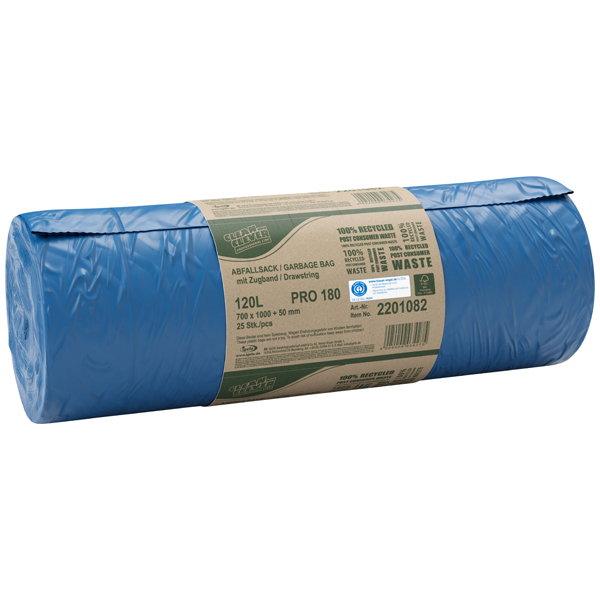 CLEAN and CLEVER PROFESSIONAL Abfallsack mit Zugband PRO 180