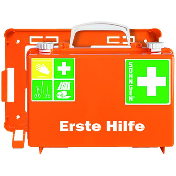 Erste Hilfe Koffer mit Wandhalterung