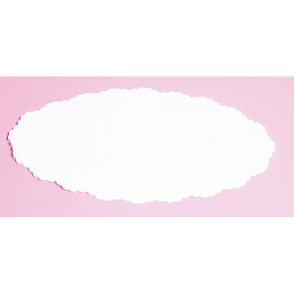 Plattenpapier oval 16 x 24 cm