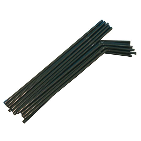 Trinkhalm 24 x 0,5 cm schwarz