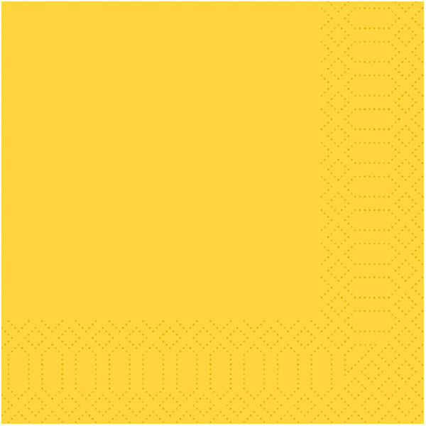 Duni Servietten 40 x 40 cm gelb