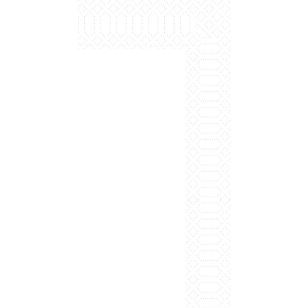 Duni 33 x 33 cm 2-lagig 1/8-Buchfalz - weiß