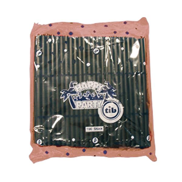 Trinkhalm 12,5 x 0,5 cm schwarz