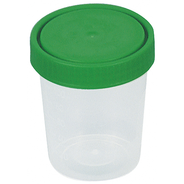 Urinprobenbecher 125 ml Schraubverschluß graduiert