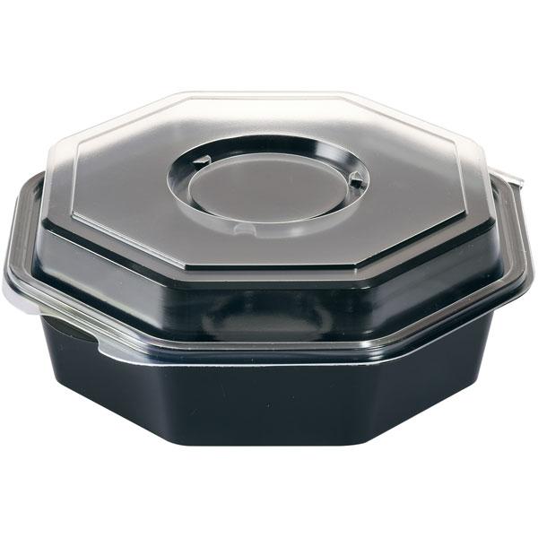 Vorschau: Duni Octaview® Schale 950 ml schwarz (mit Deckel)  + Dressing-Gla online kaufen - Verwendung 1