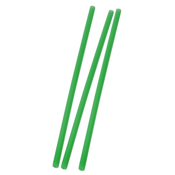 Trinkhalm 25 x 0,8 cm grün