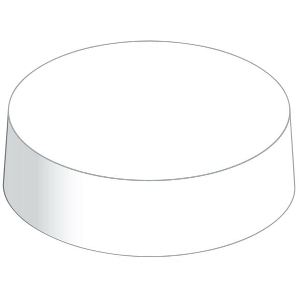 Paper Caps Trinkglasabdeckung weiß 80 mm
