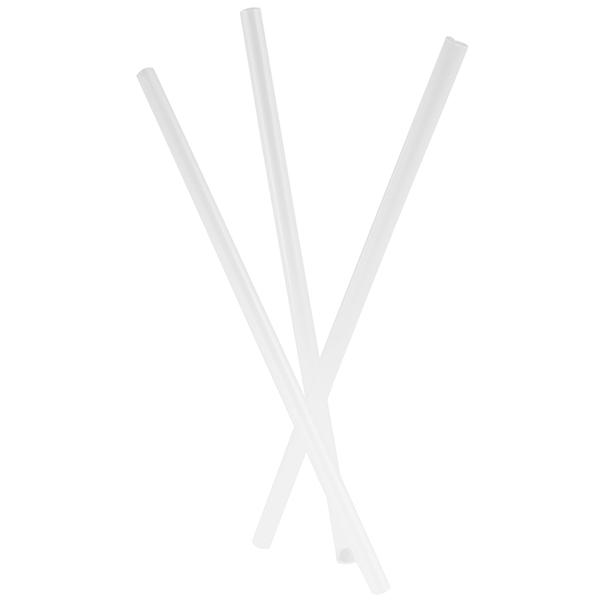 Milchshake-Trinkhalm transparent 21 cm ( 1000 Stück )