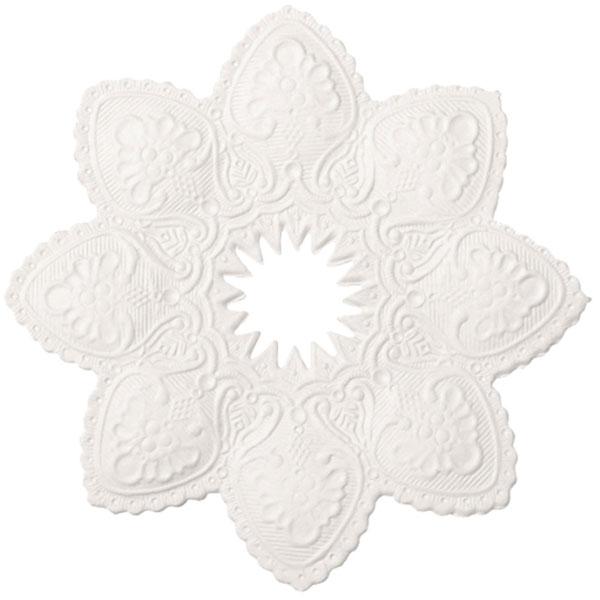 Kerzenmanschette weiß 10 cm