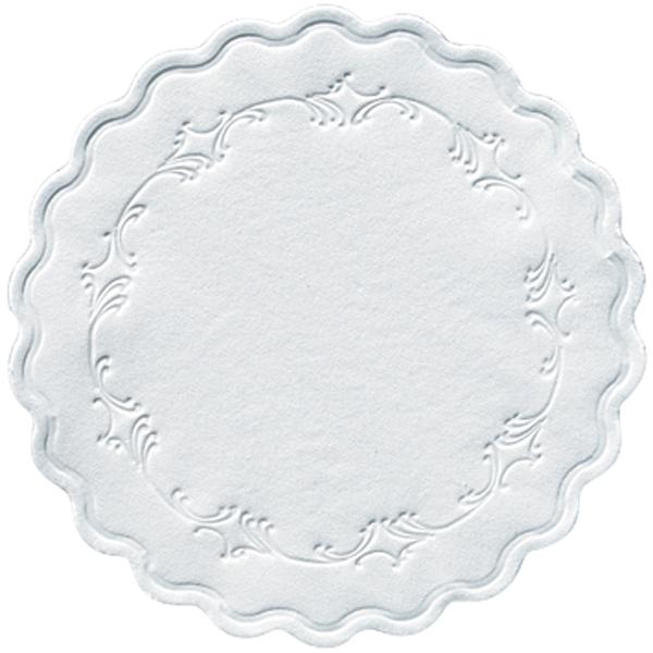Duni Untersetzer rund 9 cm romanze weiß