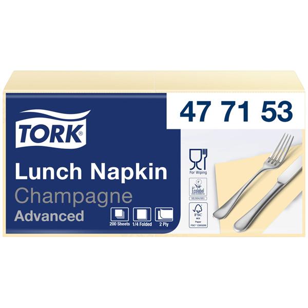 Tork Advanced Tissue-Servietten 33 x 33 cm champagne