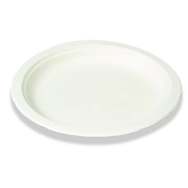 Einweg-Teller aus Zuckerrohr 23 cm