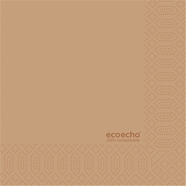 Duni Servietten 33 x 33 cm eco-brown