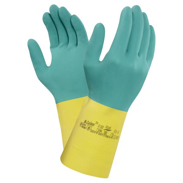 Ansell Chemikalienschutzhandsch Bi-Color  Gr. 8,5 - 9